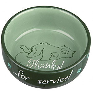 Keramik Bowl Thanks ...for service! - Grün