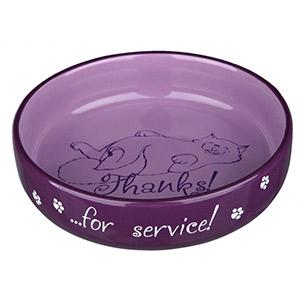 Flat Keramik Bowl Thanks ...for service! - Lilac