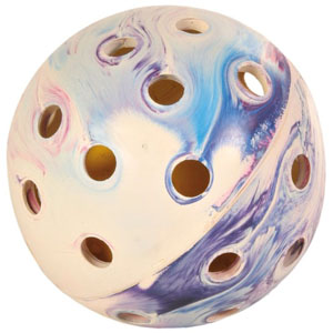 Naturgummi Lochball mit Ball - 10cm