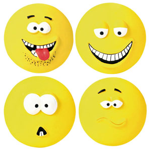 Big Latex Smileys - 4er Set