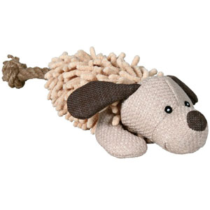 Dog Made Of Plush And Fabric - 30cm