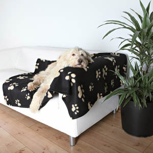 Decke Barney - schwarz-beige, 150 x 100cm