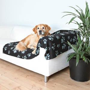 Decke Barney - schwarz-grau, 150 x 100cm