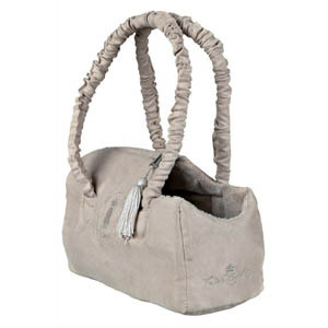 King Of Dogs Suede-Look Carrier Beige - 25x12x17cm