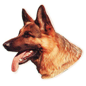 German Shepherd Sticker, Version B