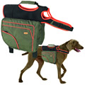 Authentic Dog Sport multifunction saddlebag green/orange