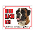FREE Dog Warning Sign, Boxer