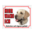 FREE Dog Warning Sign, Labrador Retriever yellow