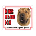 FREE Dog Warning Sign, Shar Pei