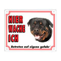 FREE Dog Warning Sign, Rottweiler
