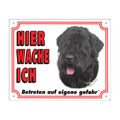 FREE Dog Warning Sign, Bouvier des Flandres