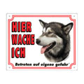 FREE Dog Warning Sign, Alaskan Malamute