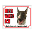 FREE Dog Warning Sign, Bull Terrier