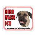 FREE Dog Warning Sign, Bullmastiff