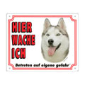 FREE Dog Warning Sign, Siberian Husky