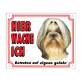 FREE Dog Warning Sign, Shih Tzu