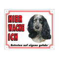 FREE Dog Warning Sign, Spaniel