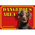 Hundewarnschild Dangerous Area, Dobermann