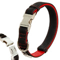 Buffalo Ultra Dog Collar Black-Red S (30-45cm x 15mm)