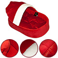 Deluxe Pet Bed Red-White