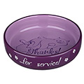 Flat Keramik Bowl Thanks ...for service! - Lilac