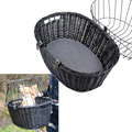 Bicycle Basket With Cushion - Black