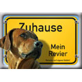 German Dog Warning Label Zuhause Mein Revier,Rhodesian Ridgeback