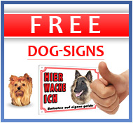FREE dog-signs
