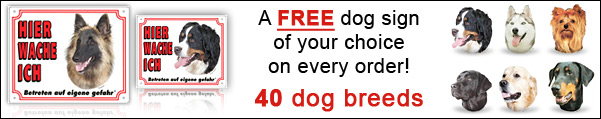 A FREE dog sign for every order!